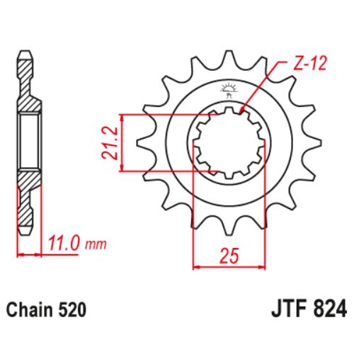 JTF824.17_JTF824-17_JT_husqvarna_jtsprocket