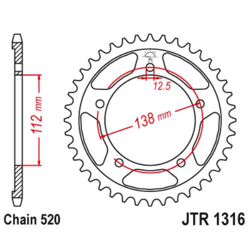 JTR1316.41_JTR1316-41_JT_honda_jtsprocket