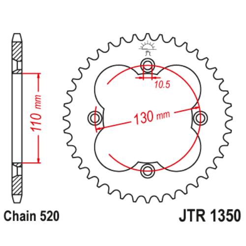 JTR1350.39_JTR1350-39_JT_honda_trx_jtsprocket